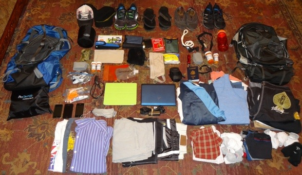 Packing for a round the world trip